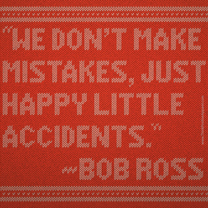 Happy Bob Ross Quotation