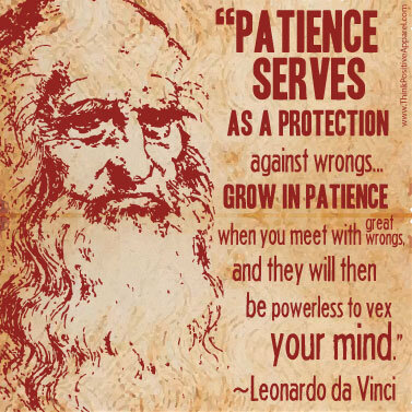 The power of patience explained by Leonardo da Vinci