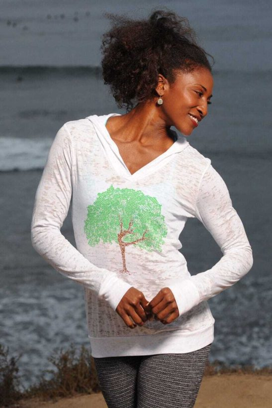 dancing tree affirmations – lightweight pullover hoody - featured product image