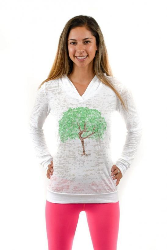 dancing tree affirmations – lightweight pullover hoody - product image