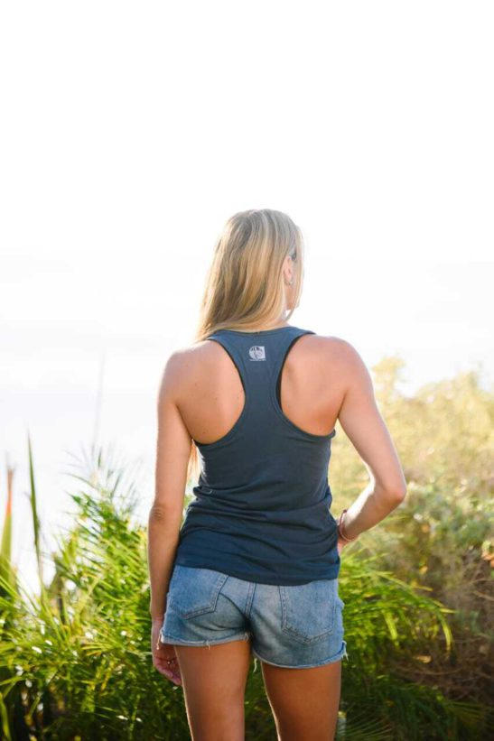 yoga elephant affirmations – racerback tank top – back product image