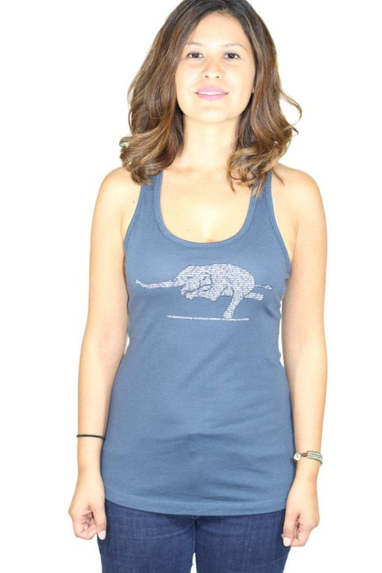 yoga elephant affirmations – racerback tank top – featured product image