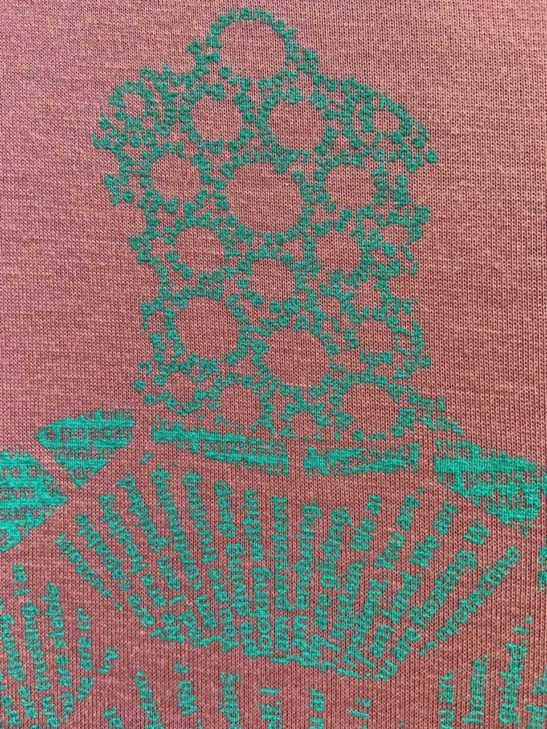 Our turtle design is made entirely from affirmations about the symbolism of the turtle and screen printed on a stylish high neck flowy tank - super closeup product image