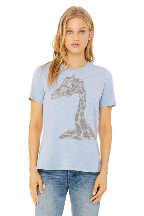 giraffe affirmations – women's relaxed fit t-shirt – featured product image