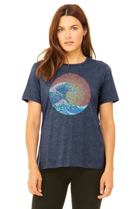 great wave yin yang on a women's relaxed fit tee - featured product image