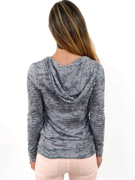 Our LOVE design is made completely from quotes about love and is screen printed on this crazy soft burnout hoody - back product image