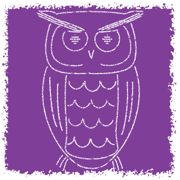 The wise owl design is made entirely of quotations about wisdom by Think Positive Apparel