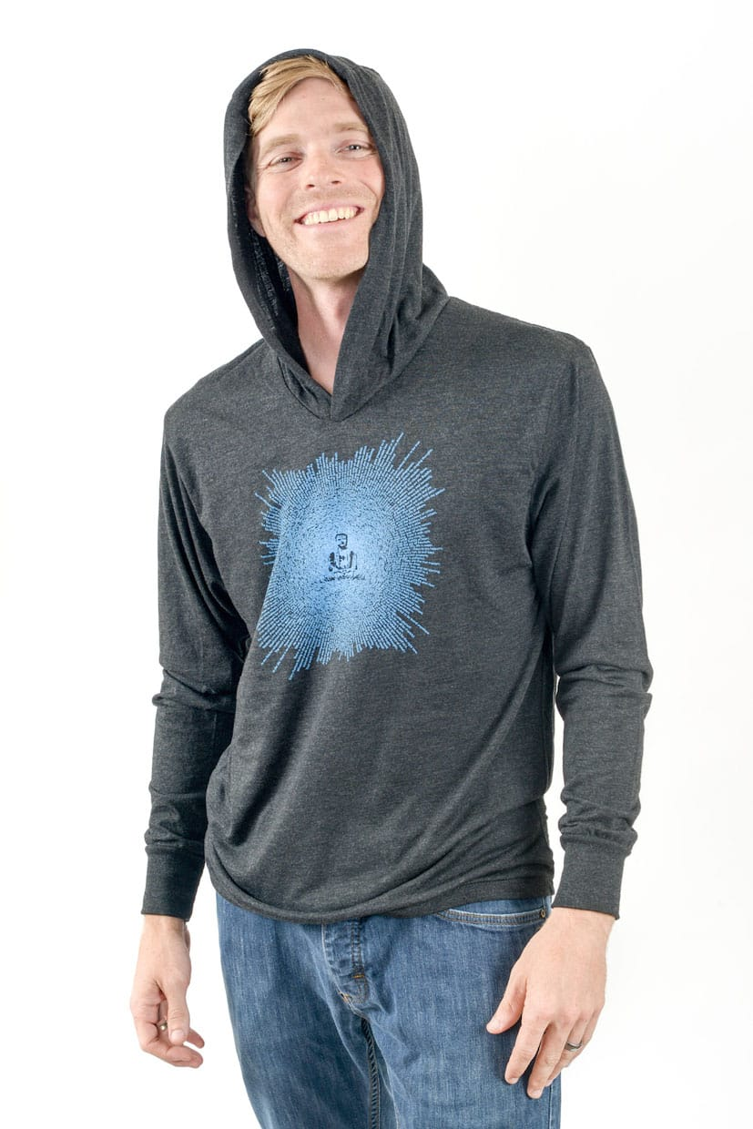 Think Positive Apparel's Buddha Design Made of Buddha Quotes Screen printed on a unisex triblend hoody